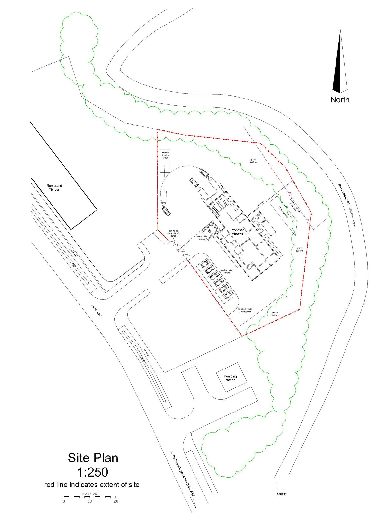 Skye and Lochalsh Abattoir Site Plan